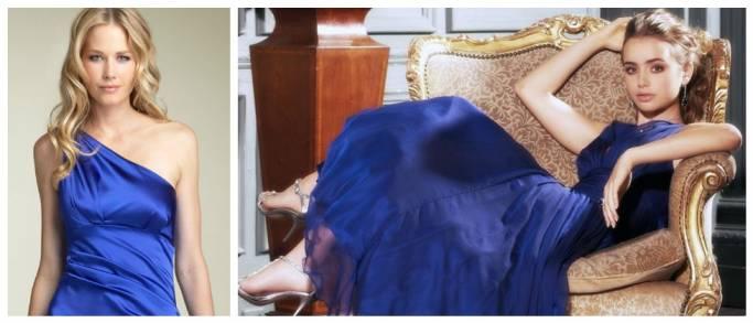 Макияж на выпускной 2017 к синему платью