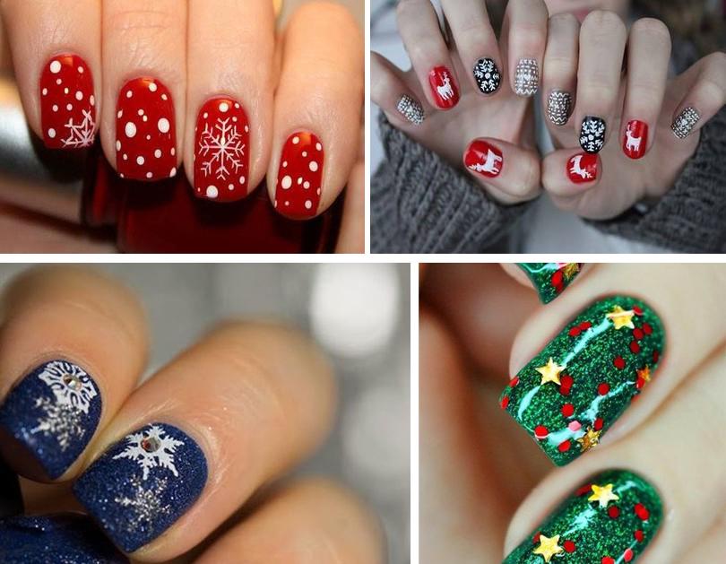 Дизайн ногтей шеллак новый год 2017