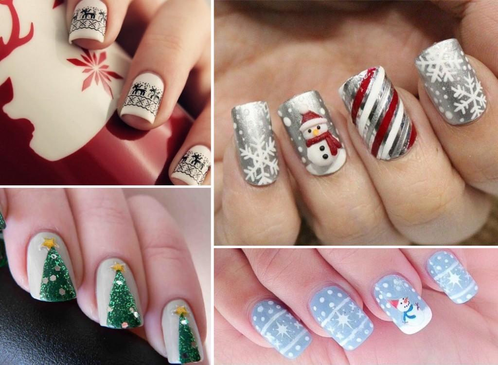Новогодние рисунки для ногтей 2017-2018