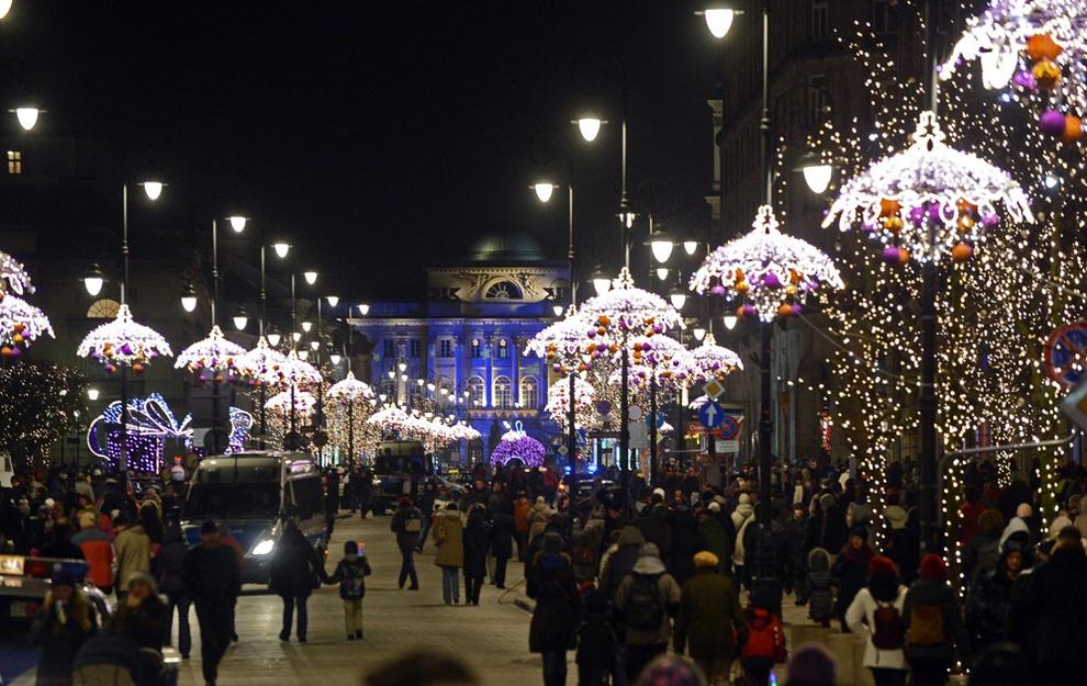 Новый год в Варшаве 2017