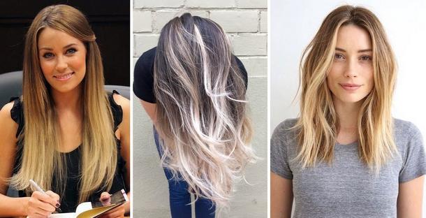 Модное окрашивание волос 2017