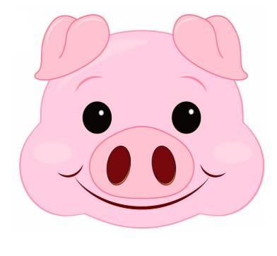 Как сделать маску свиньи своими руками картинки